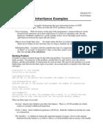 14 Inheritance Examples (c++)