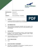 03 Internal Audit Report - Stocktakes
