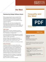 Robert Wade, Inequality and the West Press Release