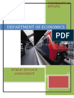 Public Finance Assignment