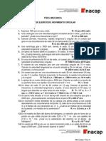 GUÍA DE EJERCICIOS Movimiento circular