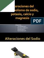 Alteracion Del Metabolismo de Sodio, Potasio, Calcio, Magnesio Seminario
