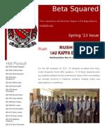 Tau Kappa Epsilon Beta Squared 2013