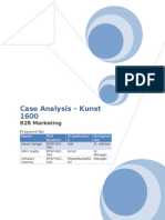 Case Analysis Kunst 1600