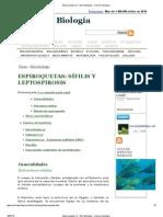Espiroquetas (1) - Microbiología - Ciencia y biología