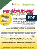 neighbourhood flyer a3 and a4