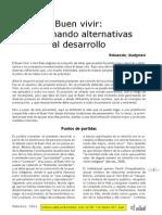ALM Buen Vivir Germinando Alternativas Al Desarrollo 2011