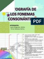 FONEMAS CONSONANTICOS
