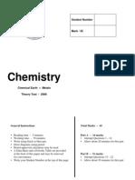 Chemistry Assessment Task