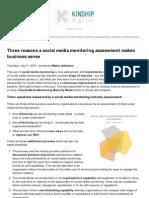 Three Reasons a Social Media Monitoring Assessment Makes Sense - KINSHIP digital