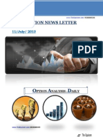 Daily Option News Letter 11 July 2013