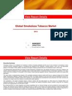 Global Smokeless Tobacco Market Report