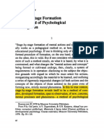 Galperin Stage by Stage Formation as a Method of Psychological Investigation