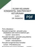 Aspek Klinik Kuliah Akper Kelainan Kongenital Dan Penyakit Keturunan