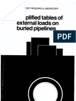 2P Simplified Tables of External Loads on Buried Pipelines