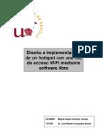 Diseño e implementación de un hostpot con una red de acceso WiFi mediante software libre