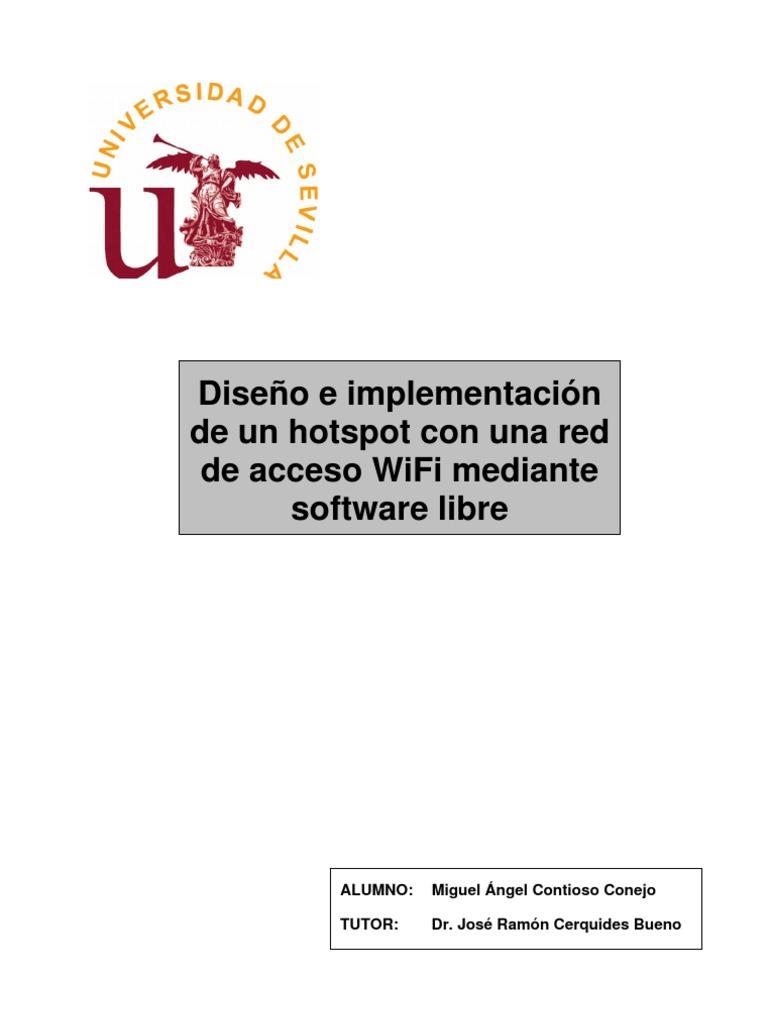 Diseño e implementación de un hostpot con una red de acceso WiFi ...