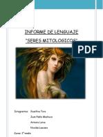 Seres Mitologicos Informe