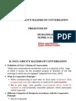 Grice's Maxim Presentation