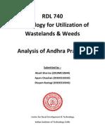 Analysis of wastelands in Andhra Pradesh