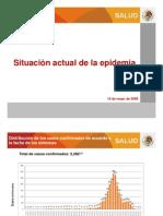 Situacion Actual Epidemia  de influenza mexico 120509