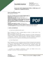 Raportul Anual CNVM Banca transilvania