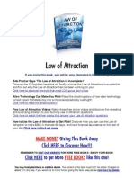 Law of Attraction - How to Let Your Thoughts Determine Your Destiny
