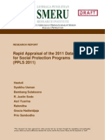 Rapid Appraisal of the 2011 Data Collection of Social Protection Programs (PPLS 2011)