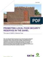 Promoting Local Food Security Reserves in the Sahel