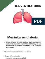 mecánica ventilatoria