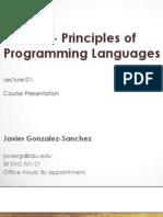 Principles of Programming Languages   ASU 2014
