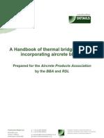 A Handbook of Thermal Bridging Details Incorporating Aircrete Blocks - Book 1
