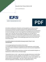 Die Fachliche Ausbildung Der Euro Finanz Service AG Opr