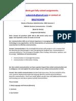 MB0039–Business Communication
