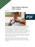 Vatican Backs Christian Malaysians