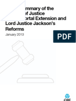 QBE's Summary of MOJ Claims Portal & LJ Jackson's Reforms