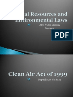 Environmental Law Clean air act