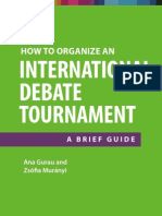 How to organize a Debate Tournament