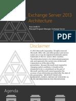 Exchange 2013 Architecture