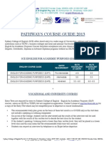 호주 SCE Pathways 2013