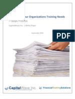 7stepstoidentifyingyourorganizationstrainingneedswhitepapersept2010-100825160721-phpapp02