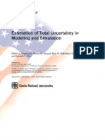 Uncertainty in Modeling and Simulation
