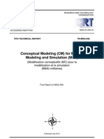 Conceptual Modeling (CM) for Military