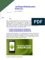Introdução ao Desenvolvimento para Android IV