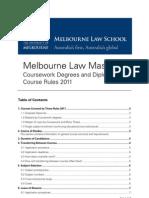 Melbourn University MLMCourseRules