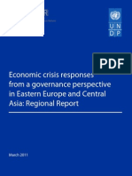 Economic crisis responses from a governance perspective in Eastern Europe and Central Asia