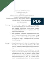 PMK2009-155 - Perubahan Atas PMK Nomor 122-PMK.06-2007 Tentang Keanggotaan Dan Tata Kerja Panitia Urusan Piutang Negara