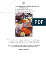 The status and challenges of food security in Central Asia