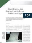 Significância das descontinuidades (defeitos / imperfeições) na área de soldagem