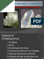 CAP IV - Cristaloquimica